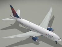 3d boeing 777-200 lr delta
