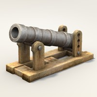 3d middle age bombard weapon