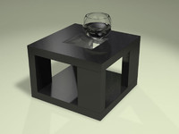 3d model black atlantic table realistic