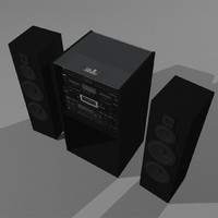 stereo cd tape recorder 3d model