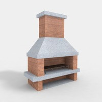 barbecue fireplace 3d model