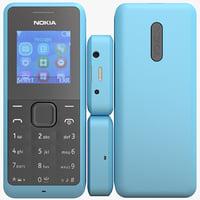 3d model of nokia 105