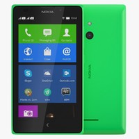 3d nokia xl bright green model