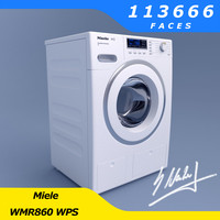 washing machine miele wmr860 3d model