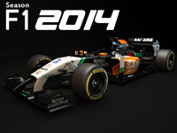 3ds max force india vjm07 2014