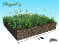 c4d grass patch
