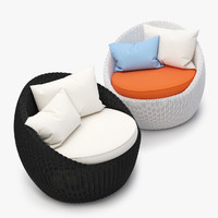 Luna Patio Rattan Chair