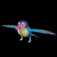 3d model of nice bird