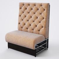 3d sofa restaurant model