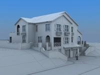 house villa 3d max