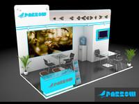 booth design 3d max