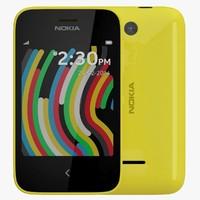 nokia asha 230 yellow 3d max