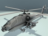 3d max helicopter apache