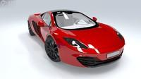 3d mclaren mp4 sports car