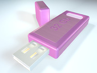 pink usb flash 3d model
