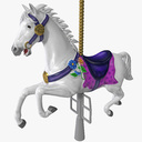 Carousel Horse 3D models