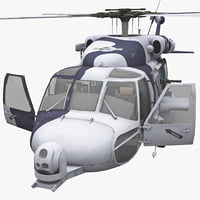 hh-60 rescue hawk rigged 3d model