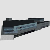 3d store building model