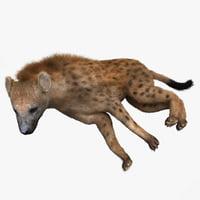 hyena pose 4 fur 3d max