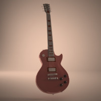 realistc les paul guitar 3d model