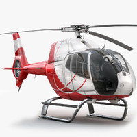 3d eurocopter ec 120 helicopter interior model