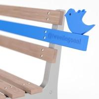 twitter bench 3d model