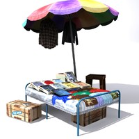 UmbrellaClothShop Low Poly
