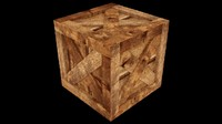 3d model uv wooden crate asset