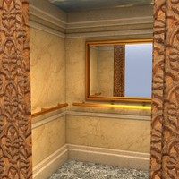 maya artdeco elevator interior