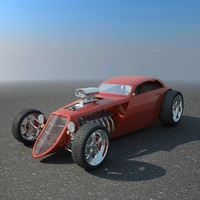 3d model hotrod concept car hot rod