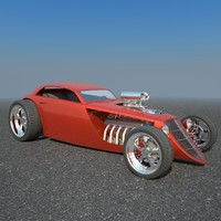 3d model of hotrod concept car hot rod