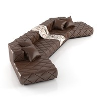 big leather sofa 3d max