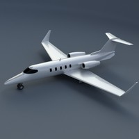 3d model learjet 28-29 longhorn private jet