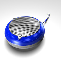 3d obj blue speakers