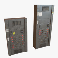 3d model of electrical boxes