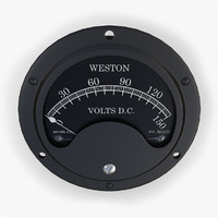 vintage dc voltmeter 3d model