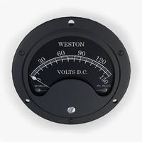 3ds max vintage dc voltmeter