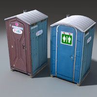 mobile toilets 3d max