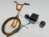 3d drift trike bike model