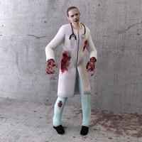 3d zombie 5 model