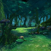 Cartoon Forest Scene 01