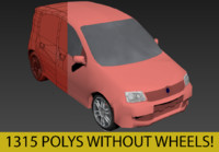 Car Fiat Panda III - low poly