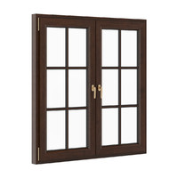 openable wooden window 1530mm 3d model