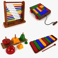 3d model abacus toy