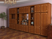 3d model closet shkaf set accessories