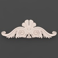 3d moulding ornament wall model