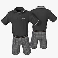 3d model golf clothes 3
