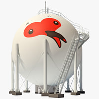japan gas storage tank obj