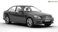3d mercedes c class 2012 model