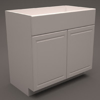 3d hampton bay base cabinet model